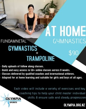 Stay engaged and stay connected through Term 2 with our At Home Gymnastics Programme!