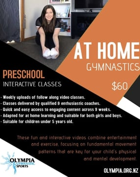 Keep your children engaged and learning with our 9 week at home preschool gymnastics programme!